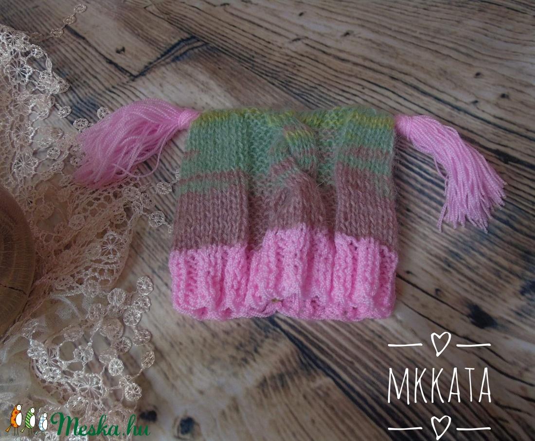 Újszülött  kötött sapka 0-2 hó  (Mkkata) - Meska.hu