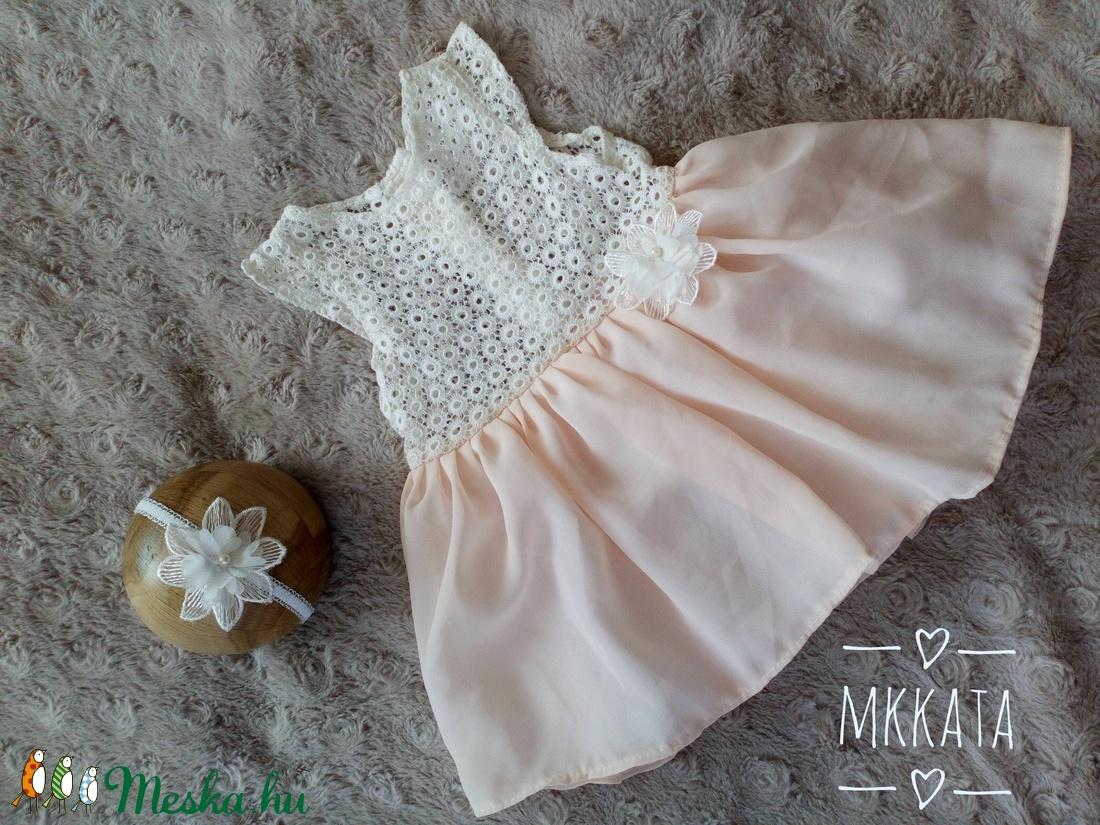 Alkalmi ,keresztelő kislány ruha 68-as méret  (Mkkata) - Meska.hu