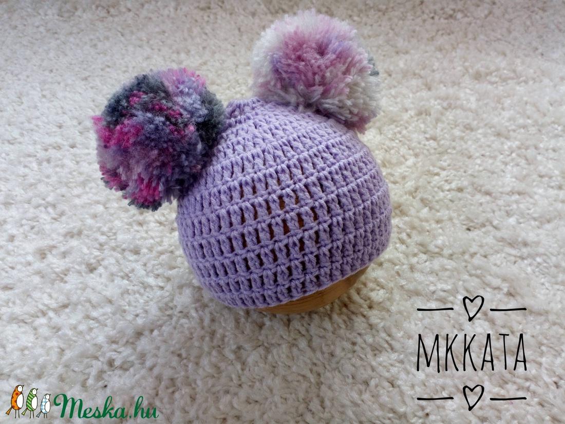 Úszülött horgolt baba sapka 0-2 hónapos méret  (Mkkata) - Meska.hu