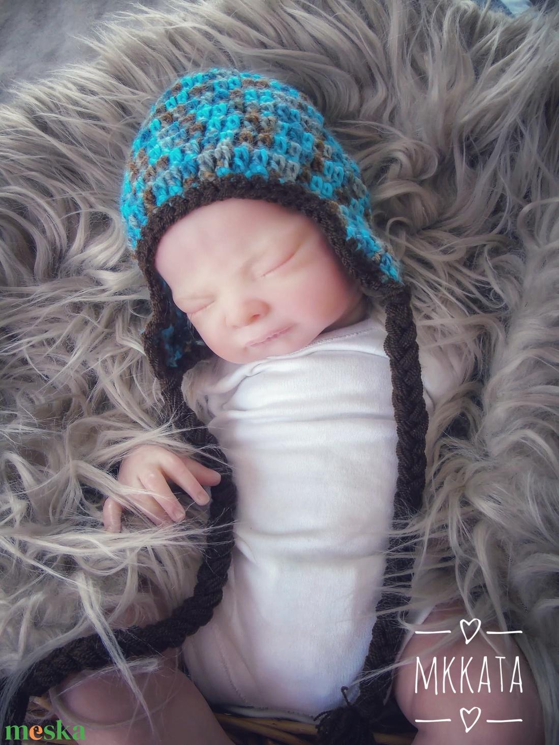 Horgolt baba sapka 1-3 hónapos méret  - ruha & divat - babaruha & gyerekruha - babasapka - Meska.hu