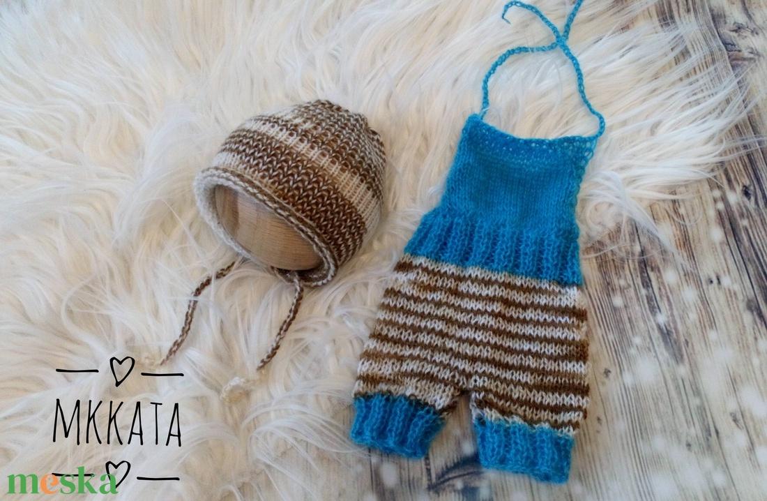 Kötött baba sapka+ nadrág szett  0-2 hónapos méret  (Mkkata) - Meska.hu