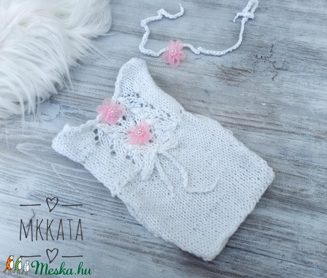 Kötött  babafotózási szett 50-56- os méret (Mkkata) - Meska.hu
