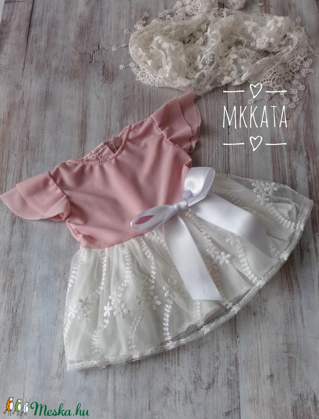 Alkalmi ,keresztelő kislány ruha 62-es méret  - ruha & divat - babaruha & gyerekruha - keresztelő ruha - Meska.hu