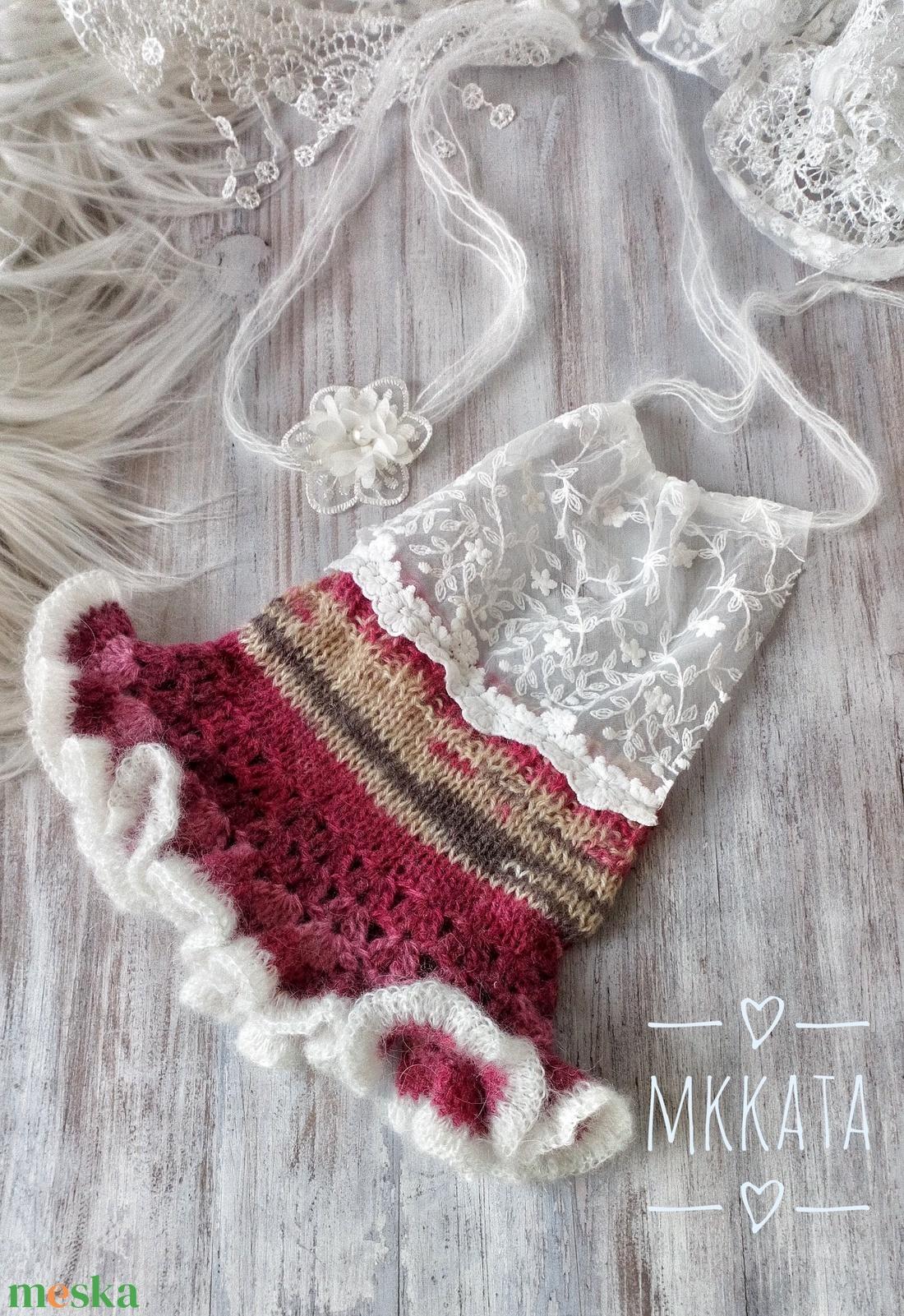 Kötött újszülött szett 0-2 hónapos méret  - ruha & divat - babaruha & gyerekruha - babafotózási ruha és kellék - Meska.hu