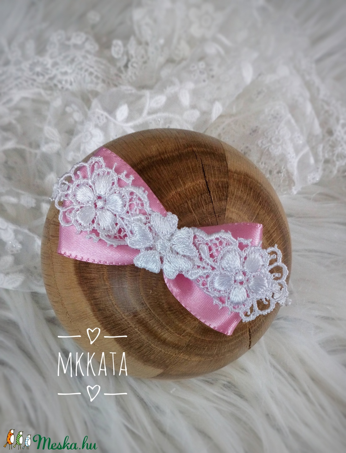 Újszülött / baba fejpánt több méretben  - ruha & divat - babaruha & gyerekruha - babafotózási ruha és kellék - Meska.hu