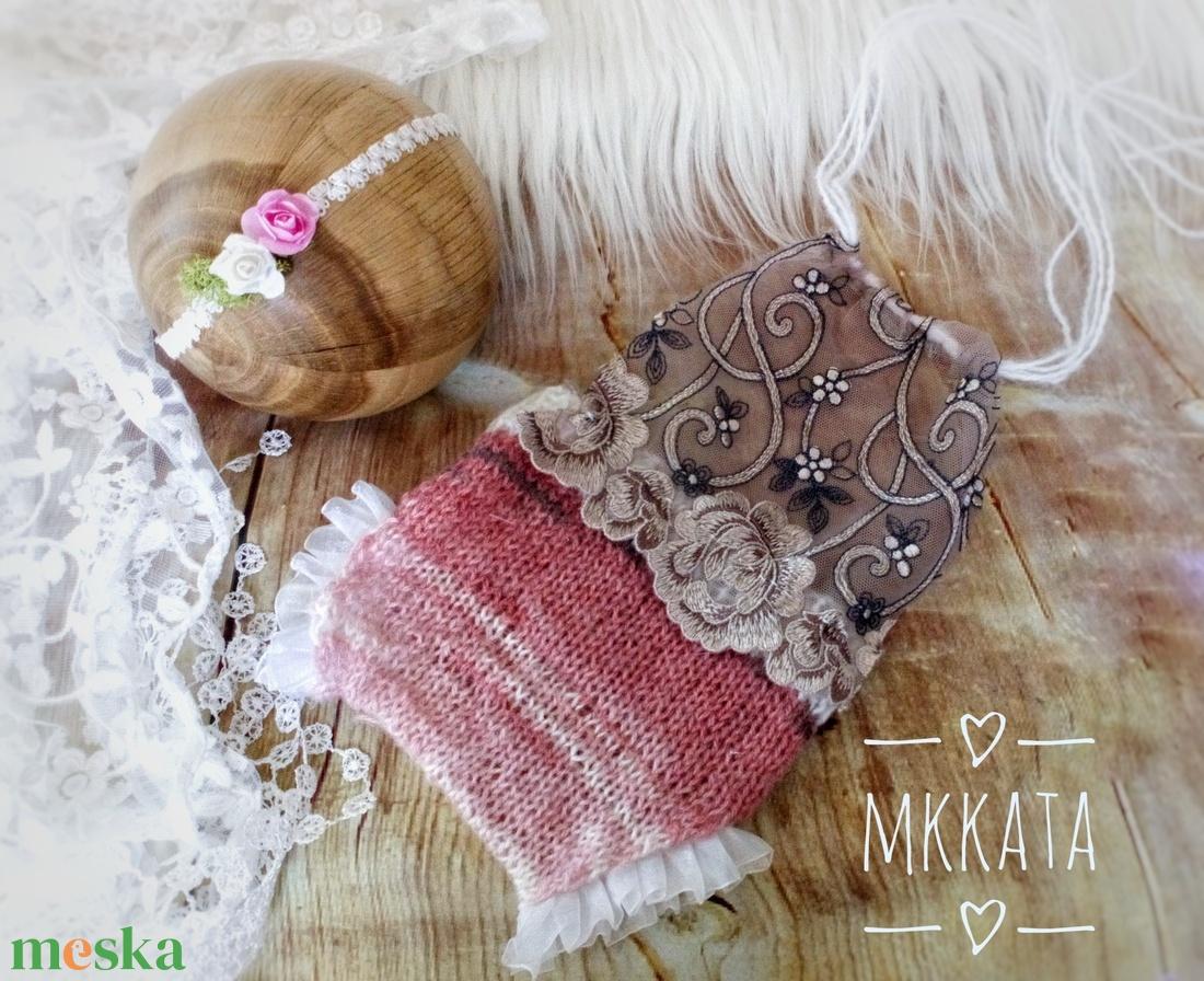 Kötött újszülött szett 0-2 hónapos méret  (Mkkata) - Meska.hu