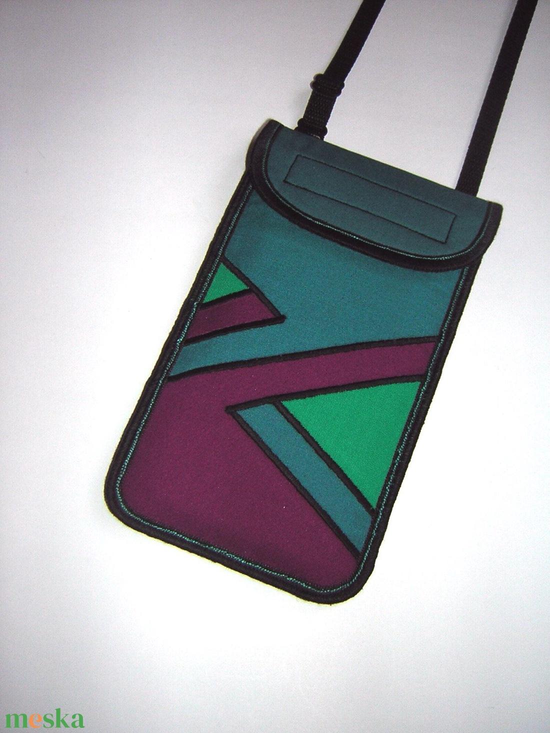 Mobiltok állítható pánttal  XL telefon tartó Nyakba akasztható kistáska - táska & tok - pénztárca & más tok - telefontok - Meska.hu