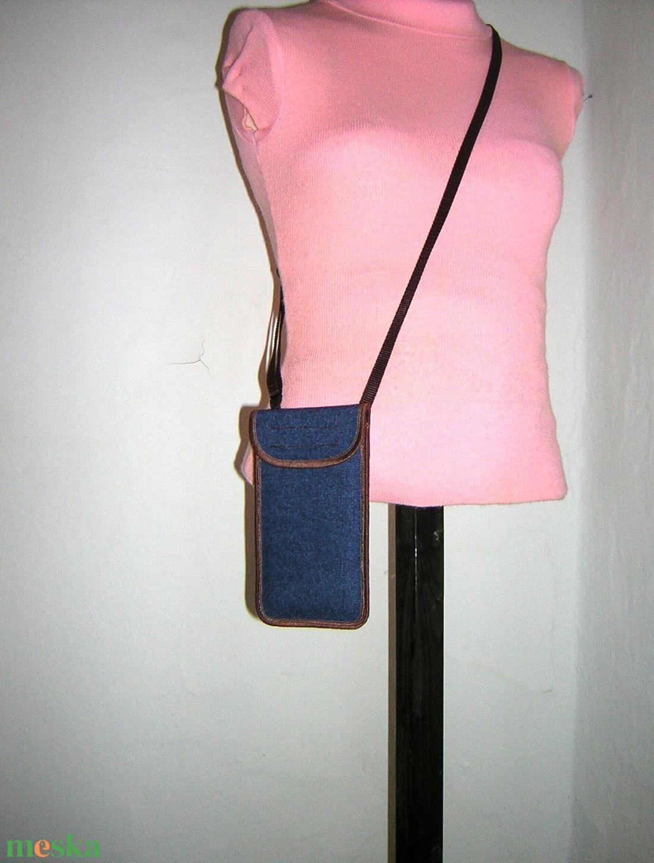 Állítható pántos mobil tok  Plus-os méretű telefonokhoz  farmer - táska & tok - pénztárca & más tok - telefontok - Meska.hu