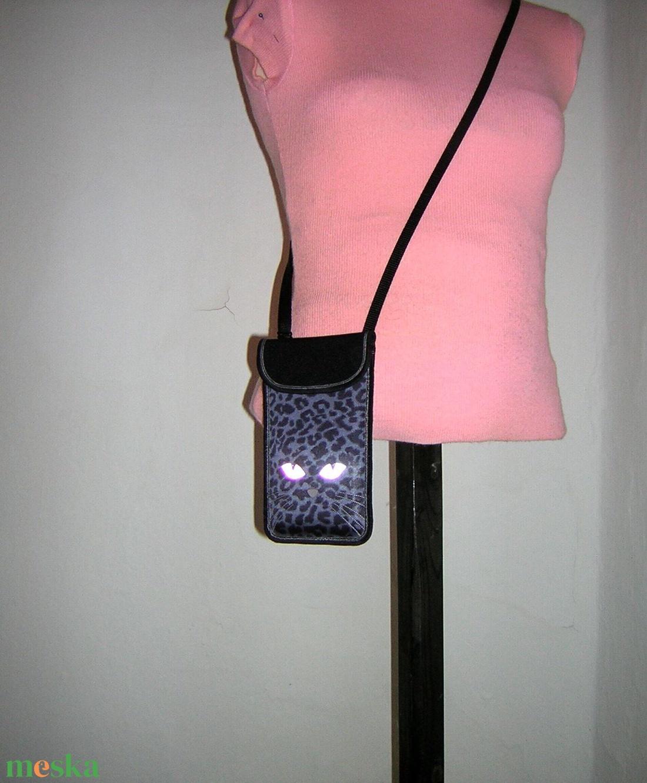 Állítható pántos mobil tok  Plus-os méretű telefonokhoz  tarka cica - táska & tok - pénztárca & más tok - telefontok - Meska.hu