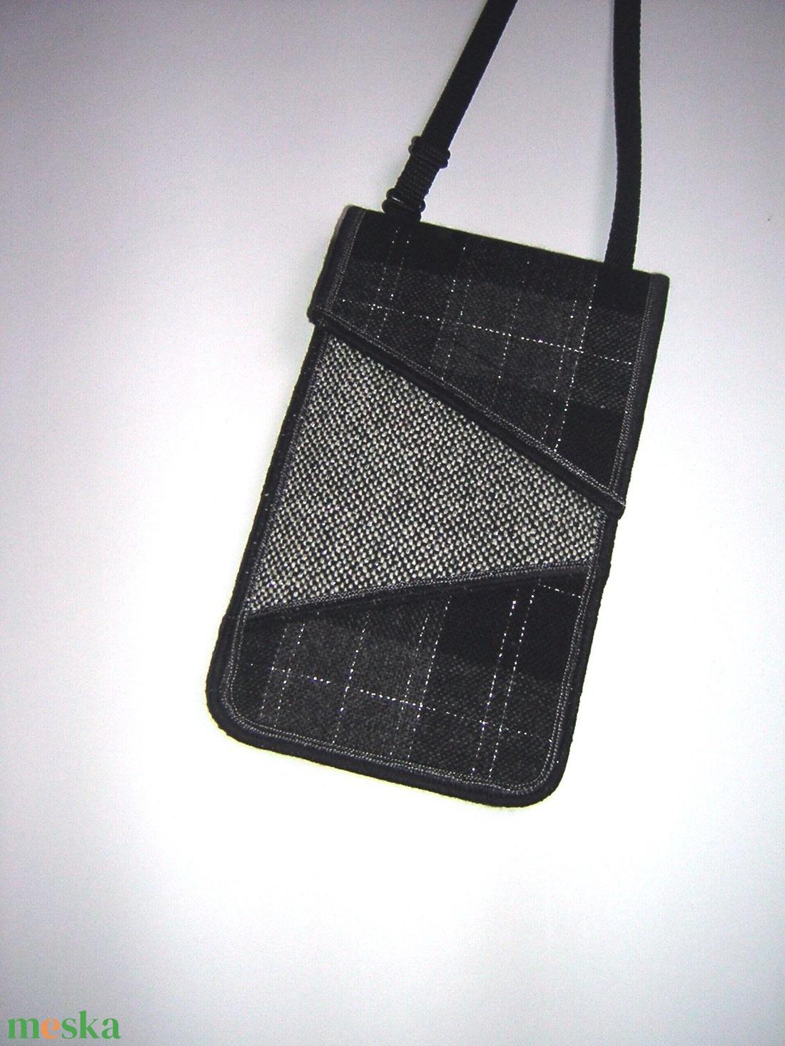 Szövet mobiltok állítható pánttal  XL telefon tartó Nyakba akasztható kistáska rendelhető - táska & tok - pénztárca & más tok - telefontok - Meska.hu