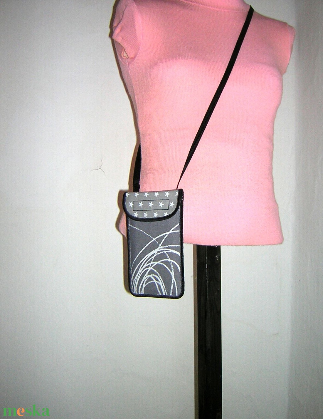 Állítható pántos mobil tok  Plus-os méretű telefonokhoz   - táska & tok - kézitáska & válltáska - vállon átvethető táska - Meska.hu