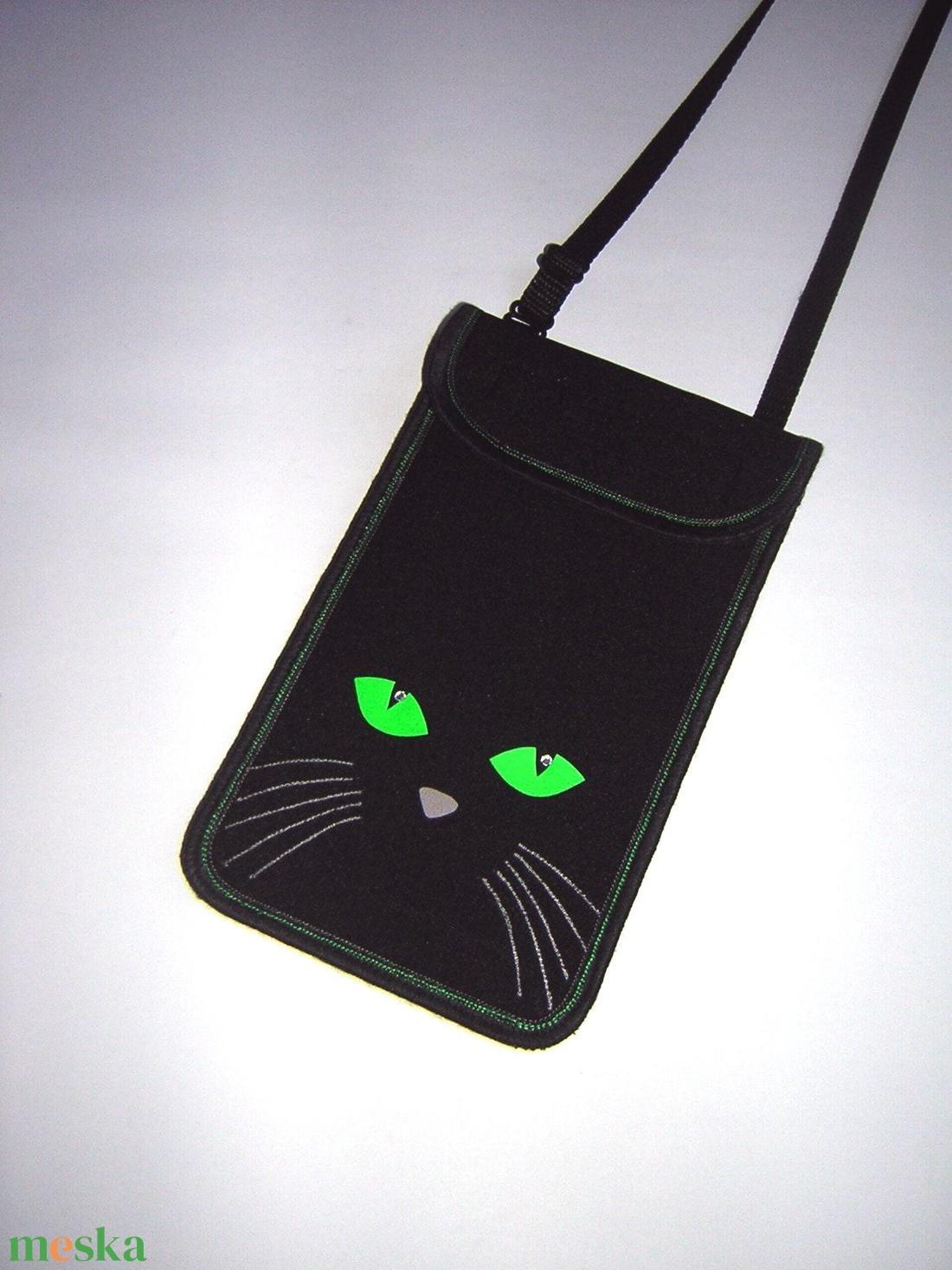 Állítható pántos mobil tok  Plus-os méretű telefonokhoz  Cicás kistáska - táska & tok - pénztárca & más tok - telefontok - Meska.hu