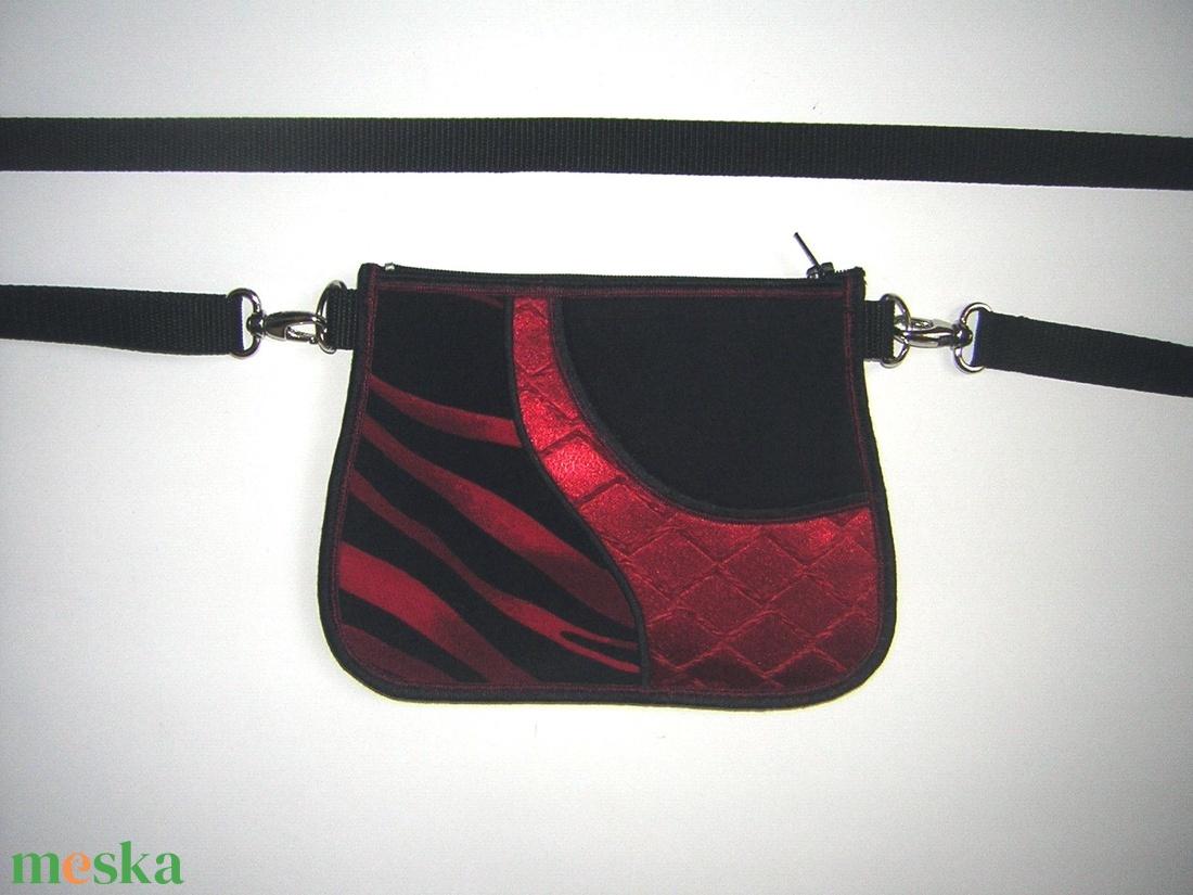 Övtáska 2in1 elegáns kis táska  Fekete Piros  - táska & tok - övtáska - Meska.hu