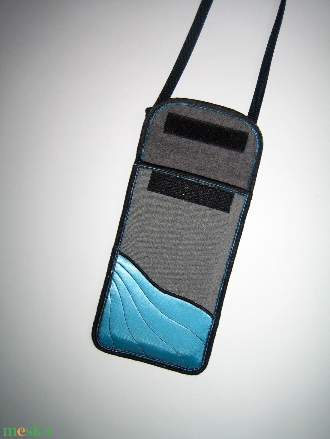 Mobiltok  Plus-os méretű telefonokhoz állítható pántos mini oldaltáska  - táska & tok - pénztárca & más tok - telefontok - Meska.hu