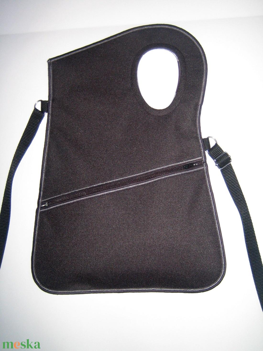 Aszimmetrikus kistáska oldaltáska fekete vízálló anyagból - táska & tok - kézitáska & válltáska - vállon átvethető táska - Meska.hu