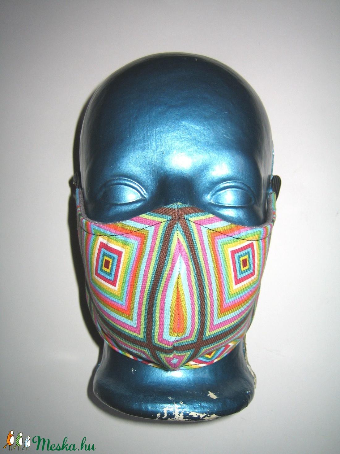 Kaleidoszkóp szájmaszk szabályozható gumival arc maszk textilmaszk - maszk, arcmaszk - női - Meska.hu