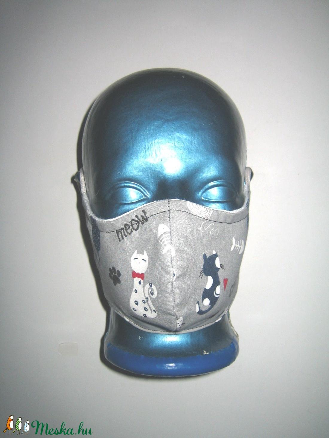 Minőségi Szájmaszk szabályozható gumival arcmaszk biciklis maszk cicás - maszk, arcmaszk - női - Meska.hu
