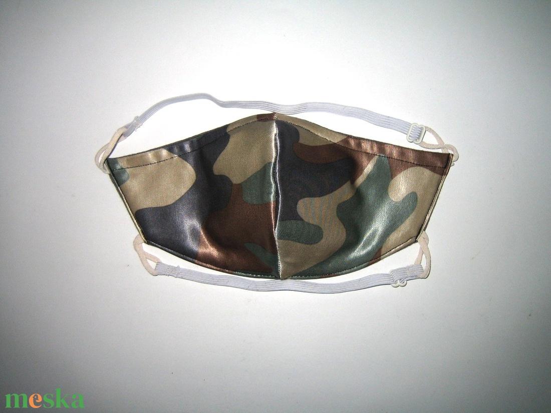 Terepmintás női szatén szájmaszk állítható gumival - maszk, arcmaszk - női - Meska.hu