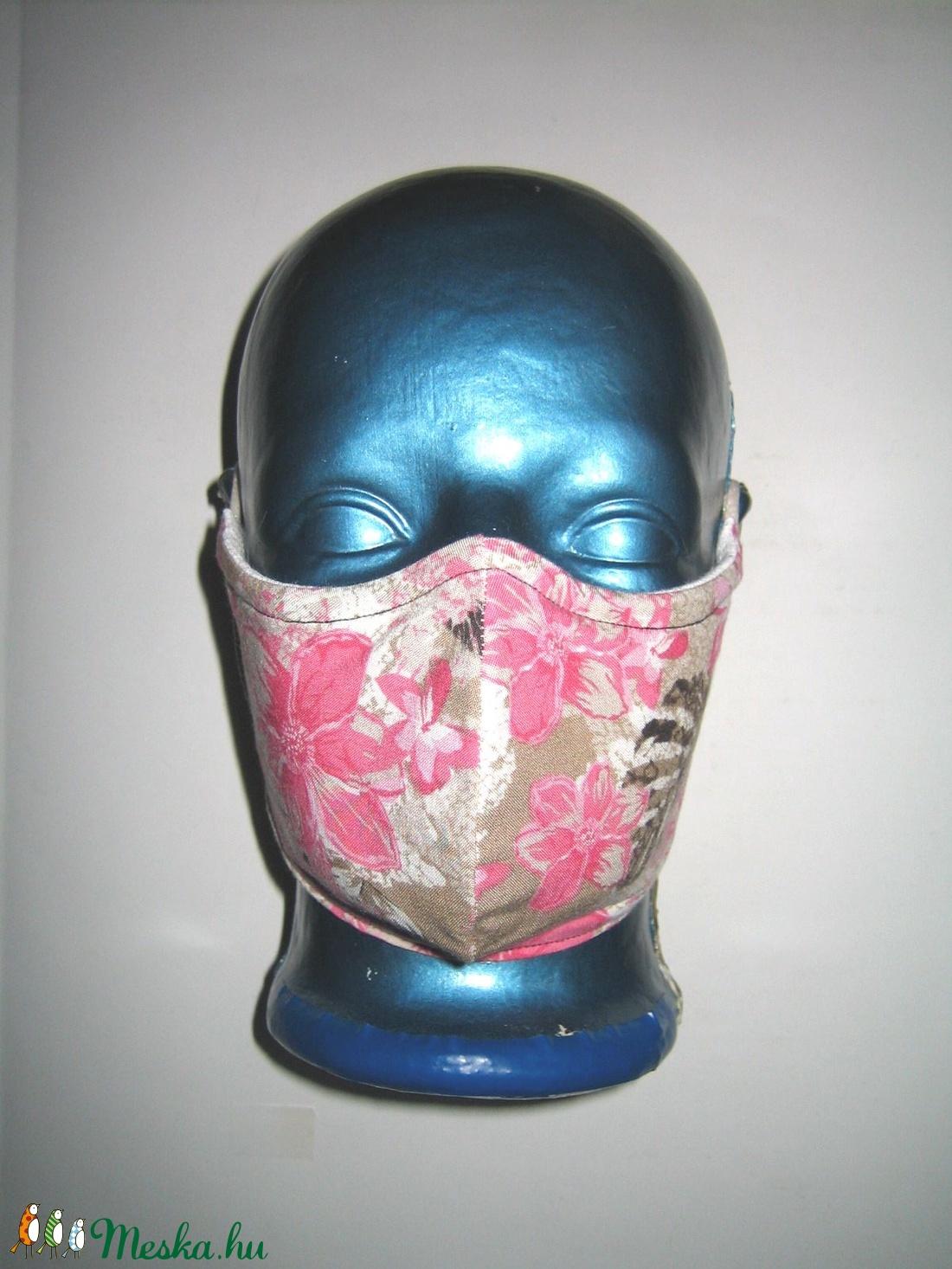 Virágos drótos egyedi szájmaszk állítható gumival orrmerevítős arcmaszk biciklis maszk  - maszk, arcmaszk - női - Meska.hu
