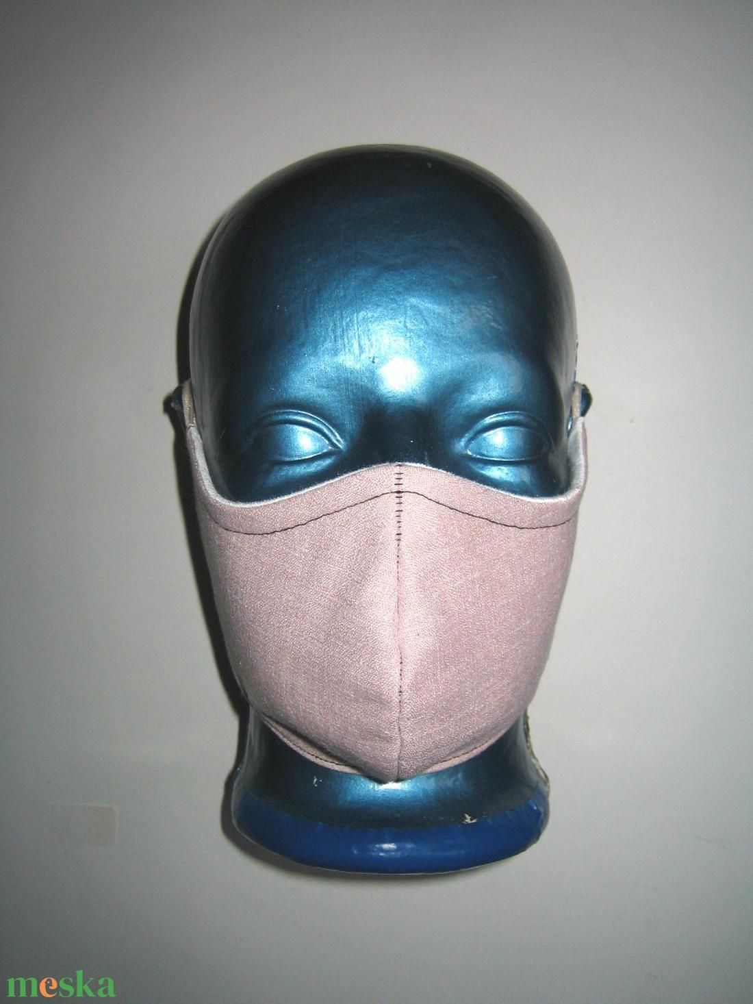 Púder színű drótos szájmaszk fülre akasztható orrmerevítős arcmaszk textil maszk  - maszk, arcmaszk - női - Meska.hu