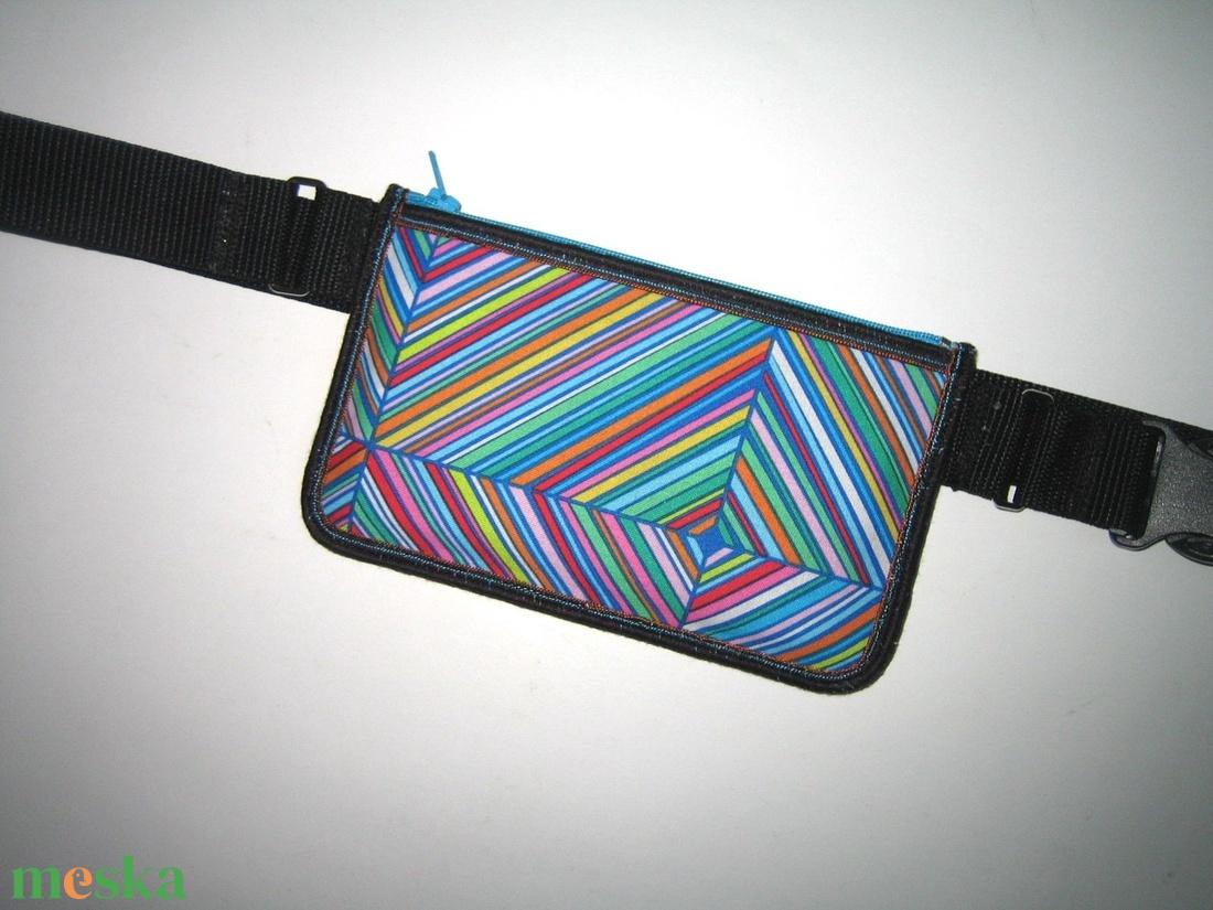 Mobiltok telefon tartó 2in1 mini övtáska vidám színes - táska & tok - övtáska - Meska.hu