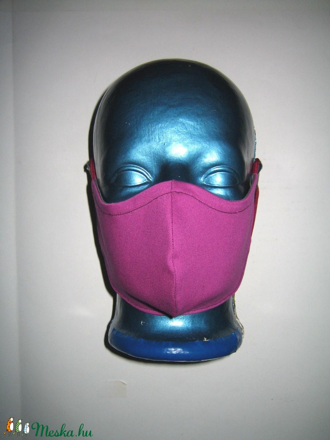2in1 egyedi Szájmaszk arcmaszk fülre akasztható textil maszk - szürke pink almás - maszk, arcmaszk - női - Meska.hu