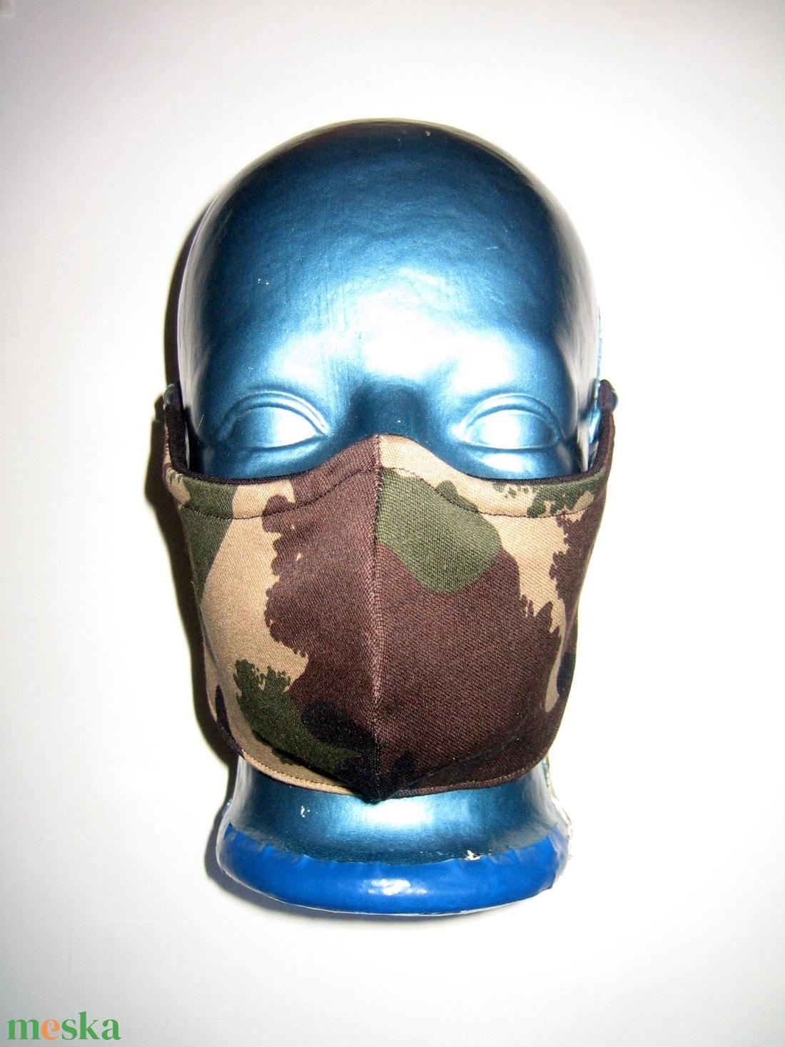 Ergonómikus orrmerevítős férfi szájmaszk fülre akasztható arc maszk terepmintás Vadász - maszk, arcmaszk - férfi & uniszex - Meska.hu