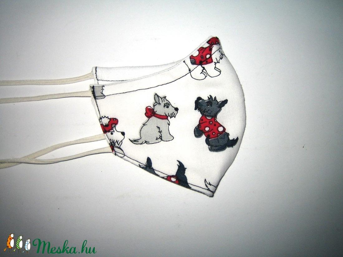 Gyerek Szájmaszk  kutyusos textil maszk - maszk, arcmaszk - gyerek - Meska.hu