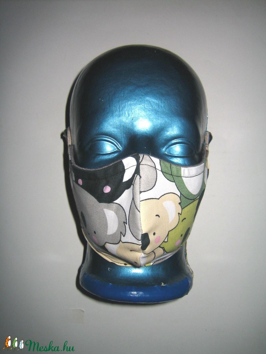 Koala macis szájmaszk textil arc maszk   - maszk, arcmaszk - női - Meska.hu
