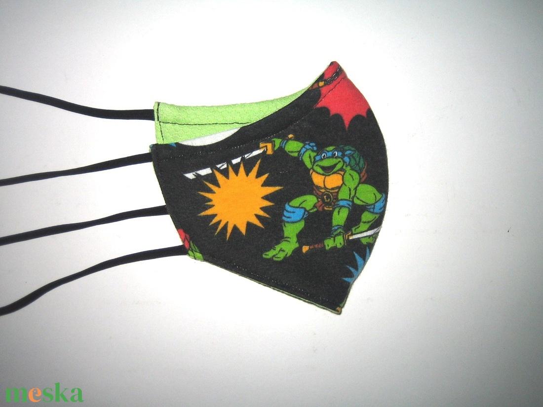 Gyerek szájmaszk tini nindzsa teknőcök textil maszk - maszk, arcmaszk - gyerek - Meska.hu