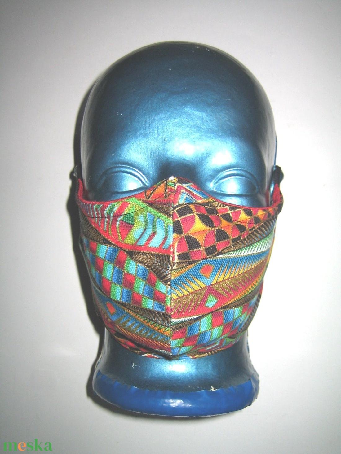 Egyedi szájmaszk orrmerevítős fülre akasztható arcmaszk  színes-arany - maszk, arcmaszk - női - Meska.hu