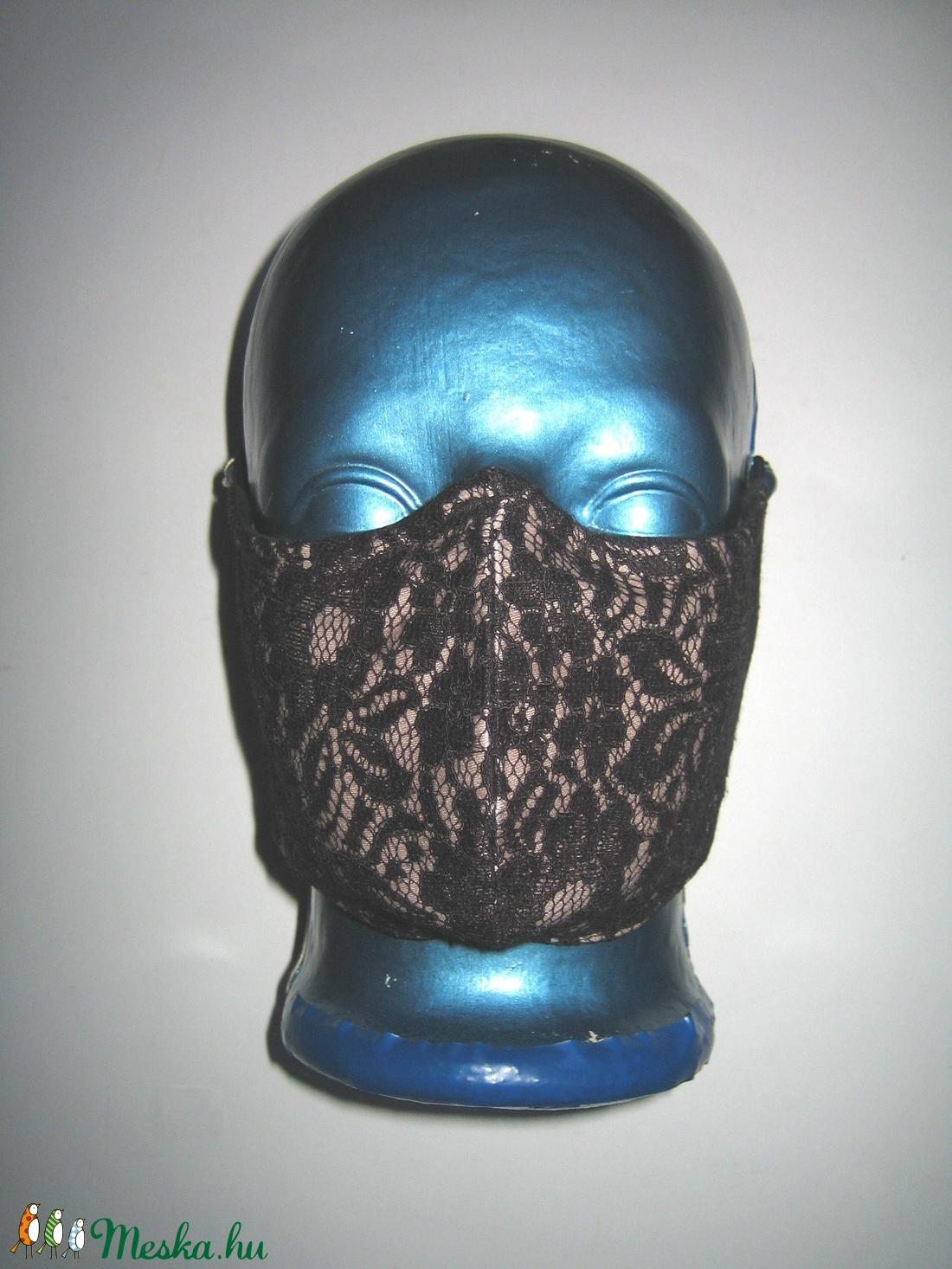 Csipke szájmaszk szemüvegeseknek orrmerevítős egyedi arcmaszk 2in1 textil maszk  - maszk, arcmaszk - női - Meska.hu