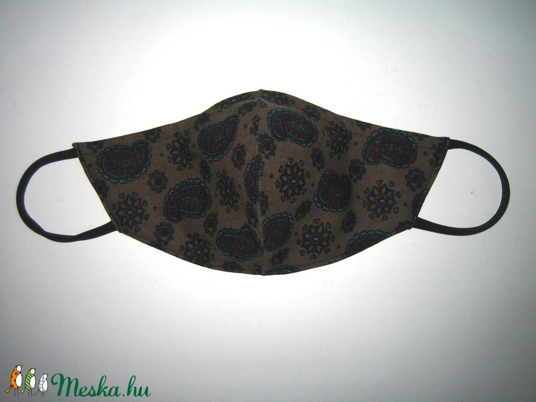 Egyedi szájmaszk fülre akasztható arcmaszk textil maszk Kasmír mintás - maszk, arcmaszk - női - Meska.hu