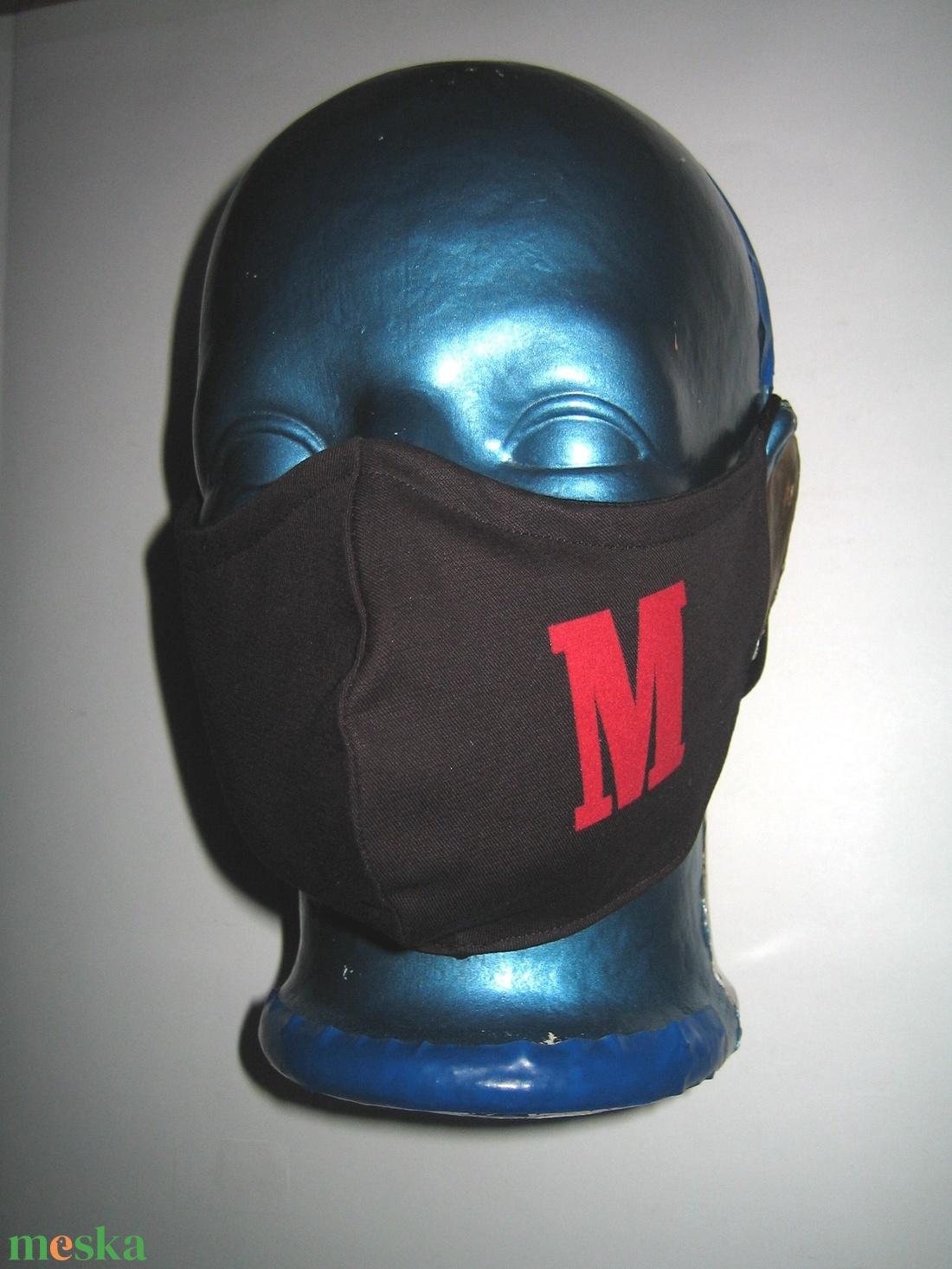 Betűs szájmaszk orrmerevítős fülre akasztható textil maszk  - maszk, arcmaszk - női - Meska.hu