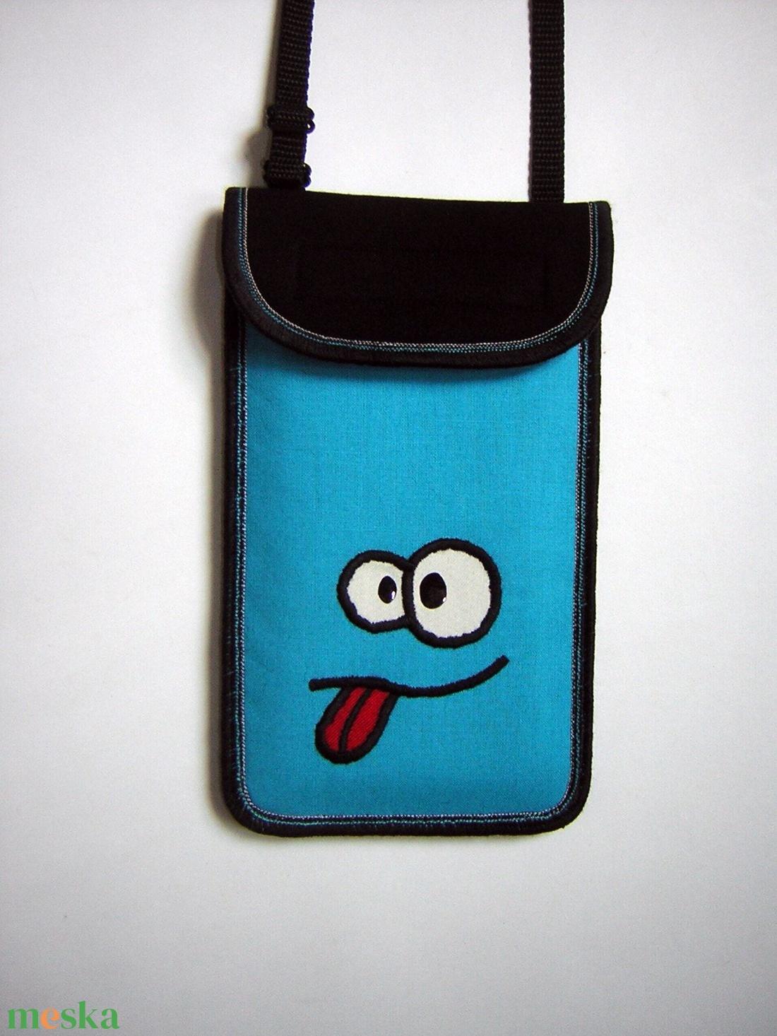 Állítható pántos mobil tok Plus-os méretű telefonokhoz   nyakba akasztható kistáska - táska & tok - pénztárca & más tok - telefontok - Meska.hu