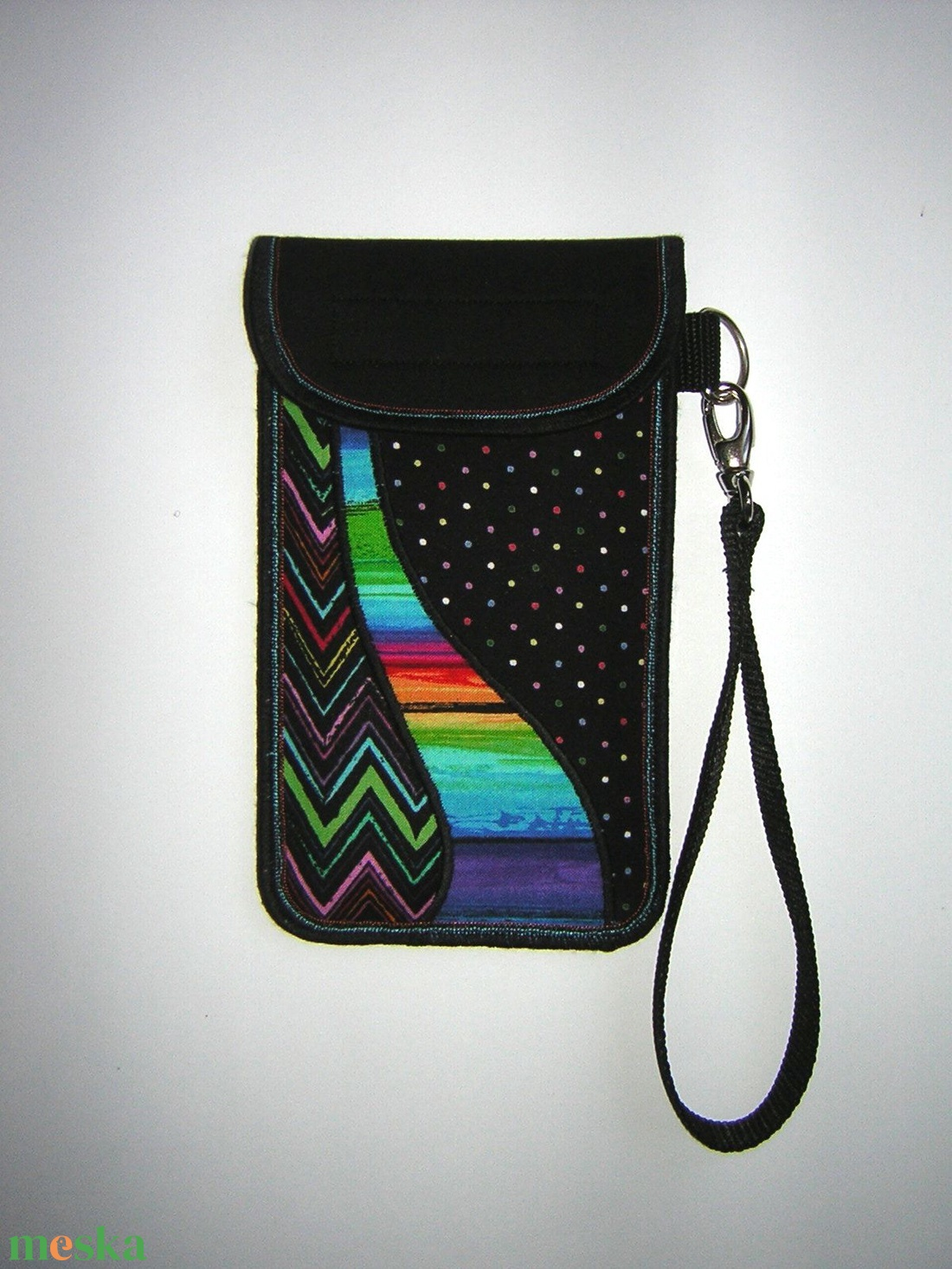 Egyedi Mobiltok kis csuklótáska XL-es méretű telefonokhoz pluszos mobilokhoz Színes-Vidám - táska & tok - pénztárca & más tok - telefontok - Meska.hu