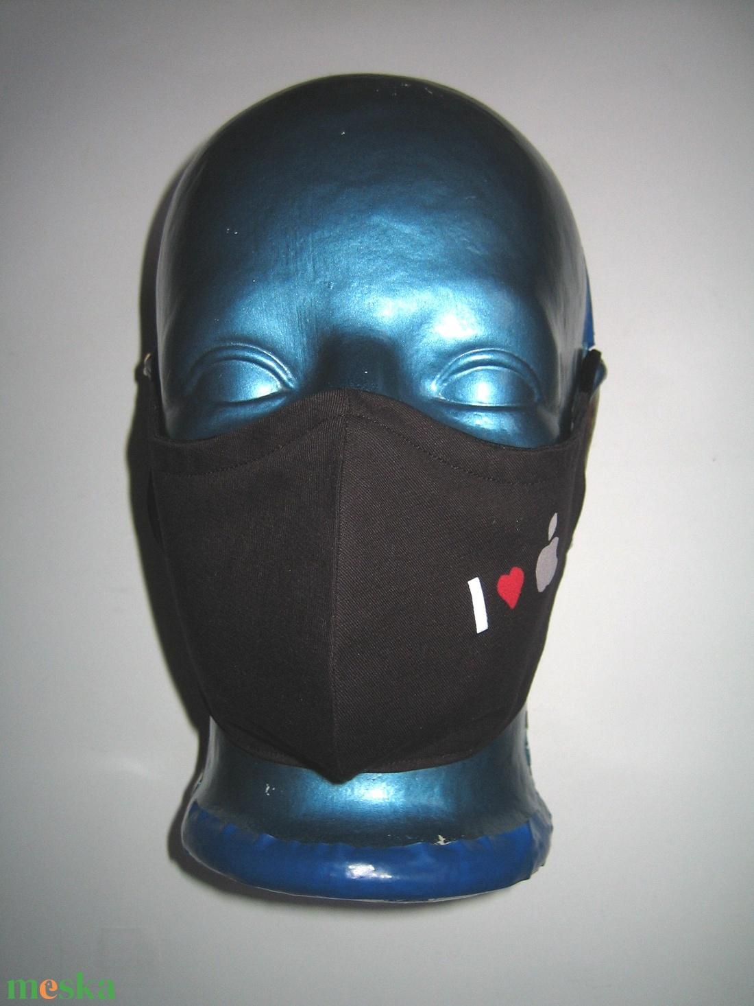 I love apple egyedi szájmaszk fülre akasztható  arcmaszk textil maszk  - maszk, arcmaszk - női - Meska.hu
