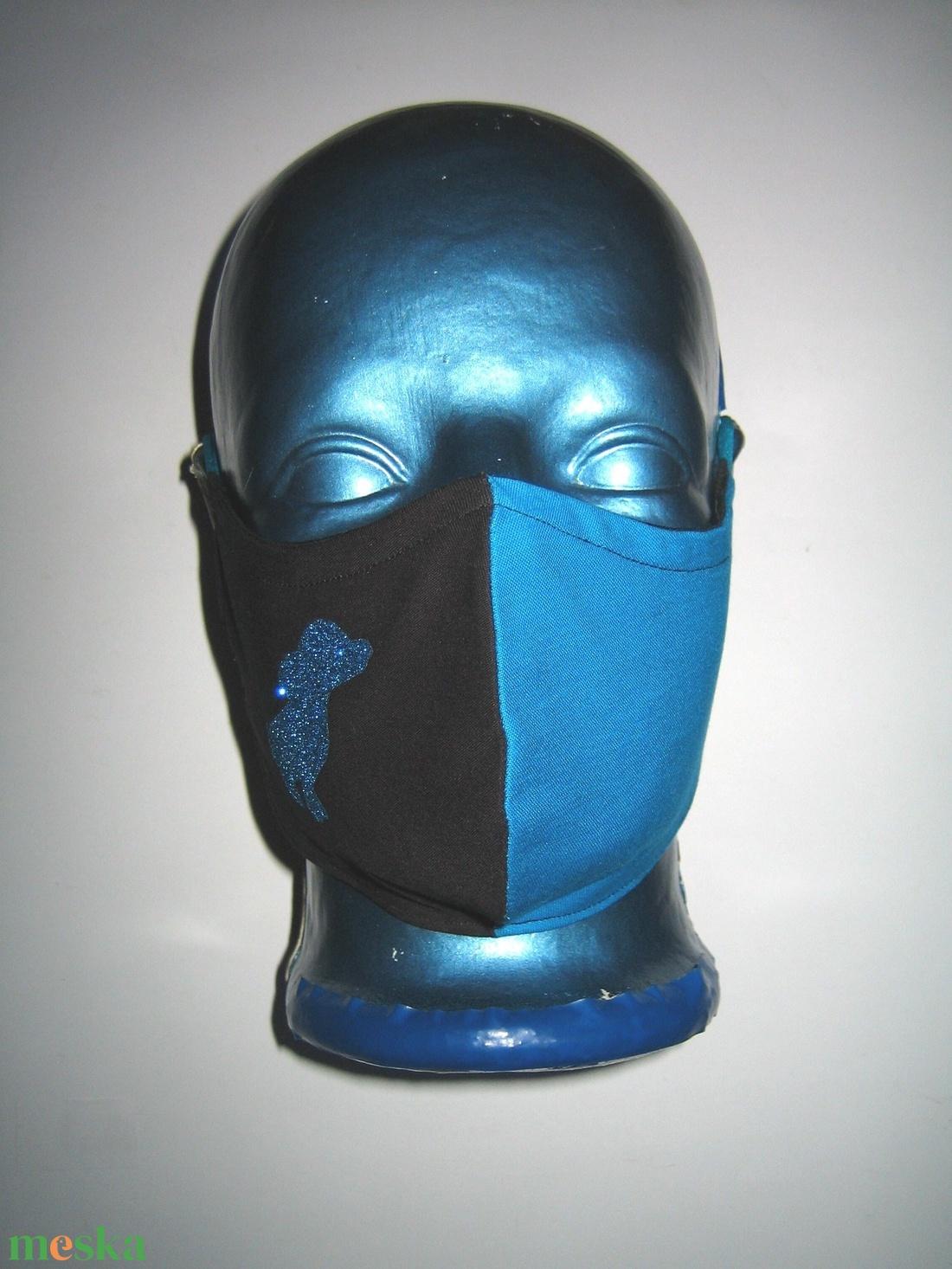 Egyedi szájmaszk fülre akasztható  arcmaszk textil maszk csillogó kutya - maszk, arcmaszk - női - Meska.hu