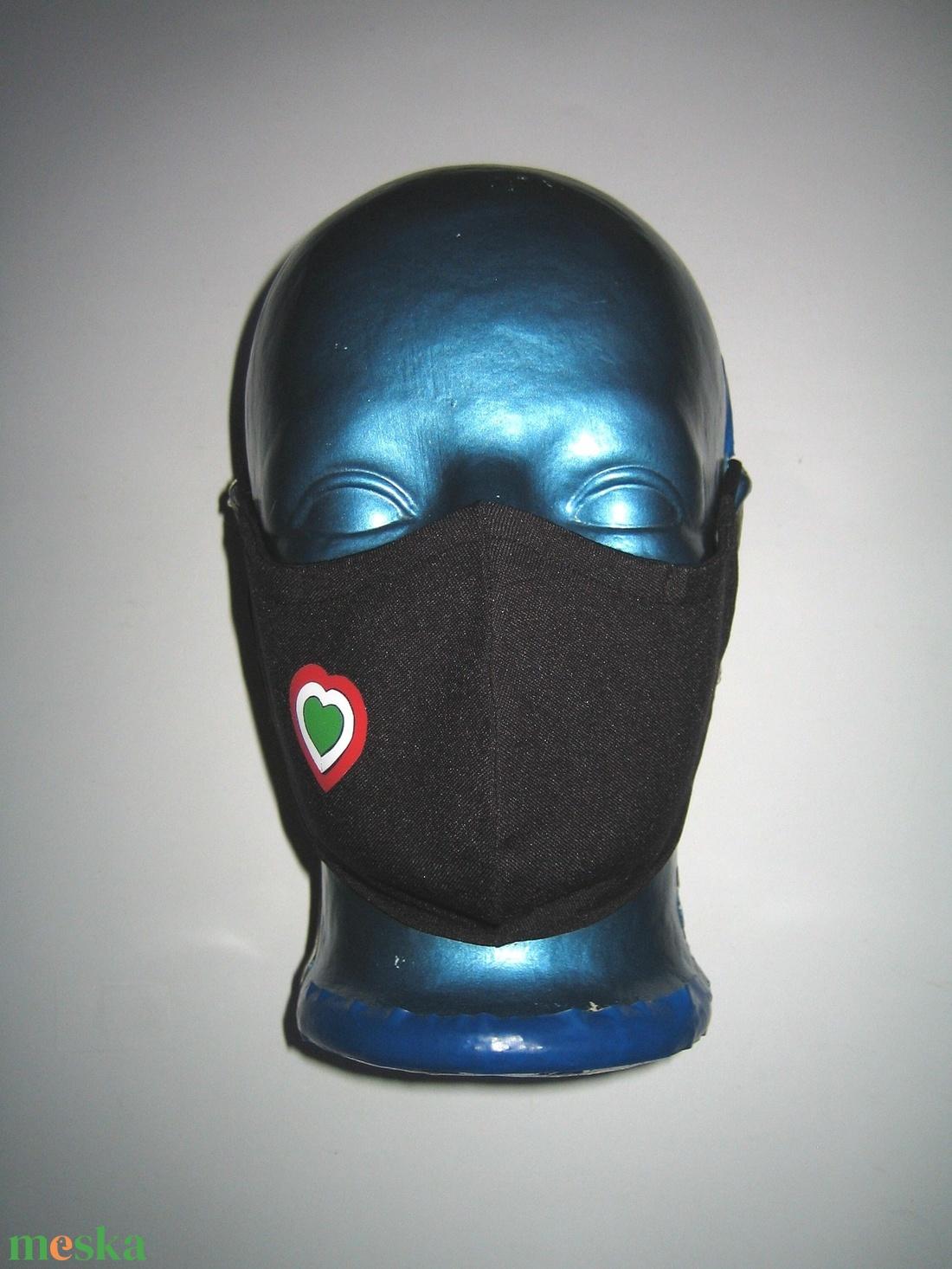 Szájmaszk fülre akasztható arcmaszk nemzeti 2 db textilmaszk  Magyarország  - maszk, arcmaszk - női - Meska.hu