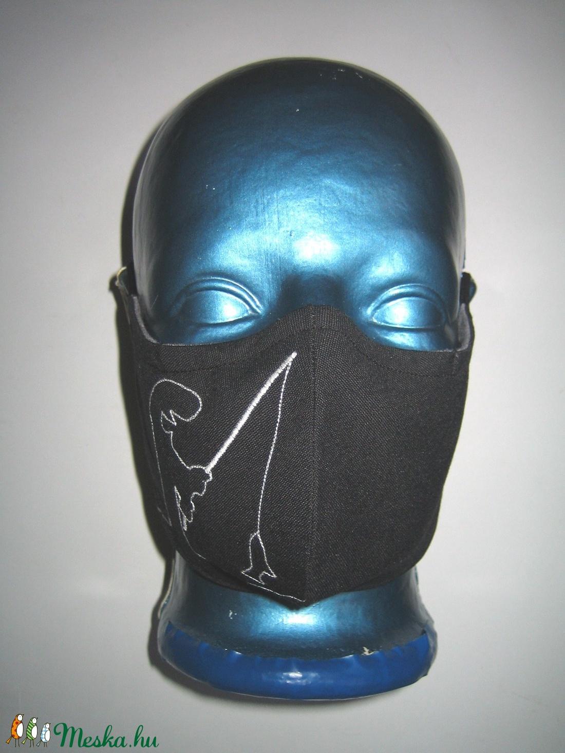 Menő Manó Szájmaszk fülre akasztható orrmerevítős arcmaszk  textilmaszk Horgászoknak - maszk, arcmaszk - női - Meska.hu