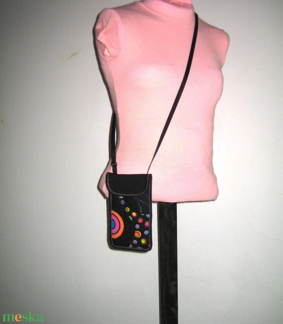 Zsebes telefontok állítható pánttal  XL telefon tartó Nyakba akasztható kistáska Színes - táska & tok - pénztárca & más tok - telefontok - Meska.hu
