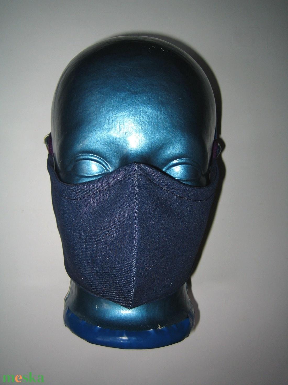 Metálfényű szájmaszk orrmerevítős fülre akasztható maszk exkluzív csillogó textilmaszk lila-kék - maszk, arcmaszk - női - Meska.hu