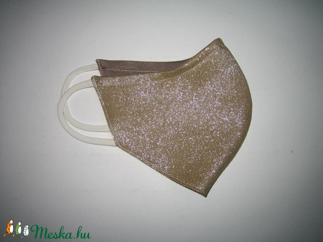 Esküvői arany maszk fülre akasztható szolidan csillogó elegáns szájmaszk - maszk, arcmaszk - női - Meska.hu