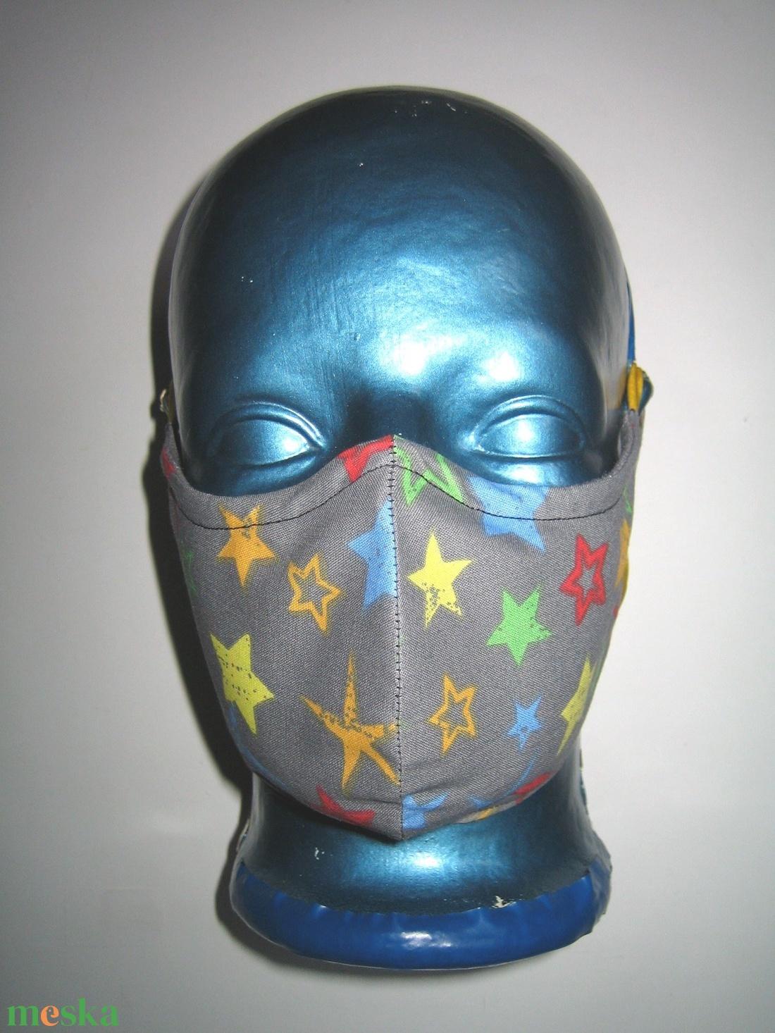 Csillagos szájmaszk orrmerevítős arcmaszk fülre akasztható textil maszk - maszk, arcmaszk - női - Meska.hu
