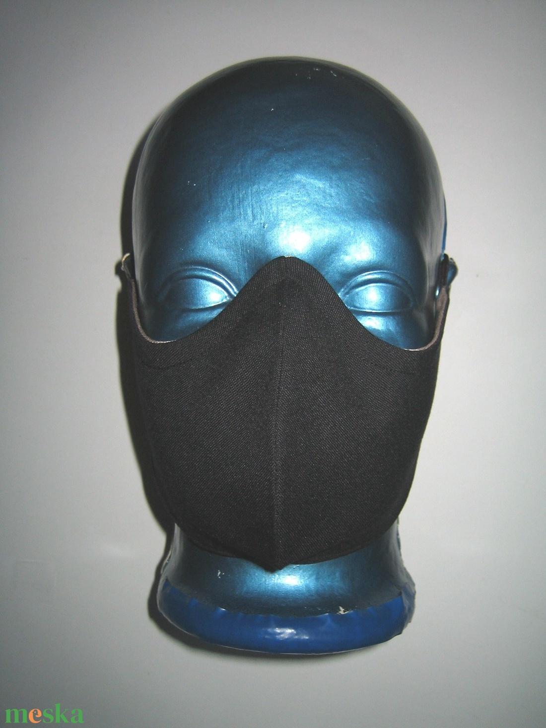 Speciális maszk szemüvegeseknek fülre akasztható arcmaszk  2in1  fekete-nud - maszk, arcmaszk - női - Meska.hu