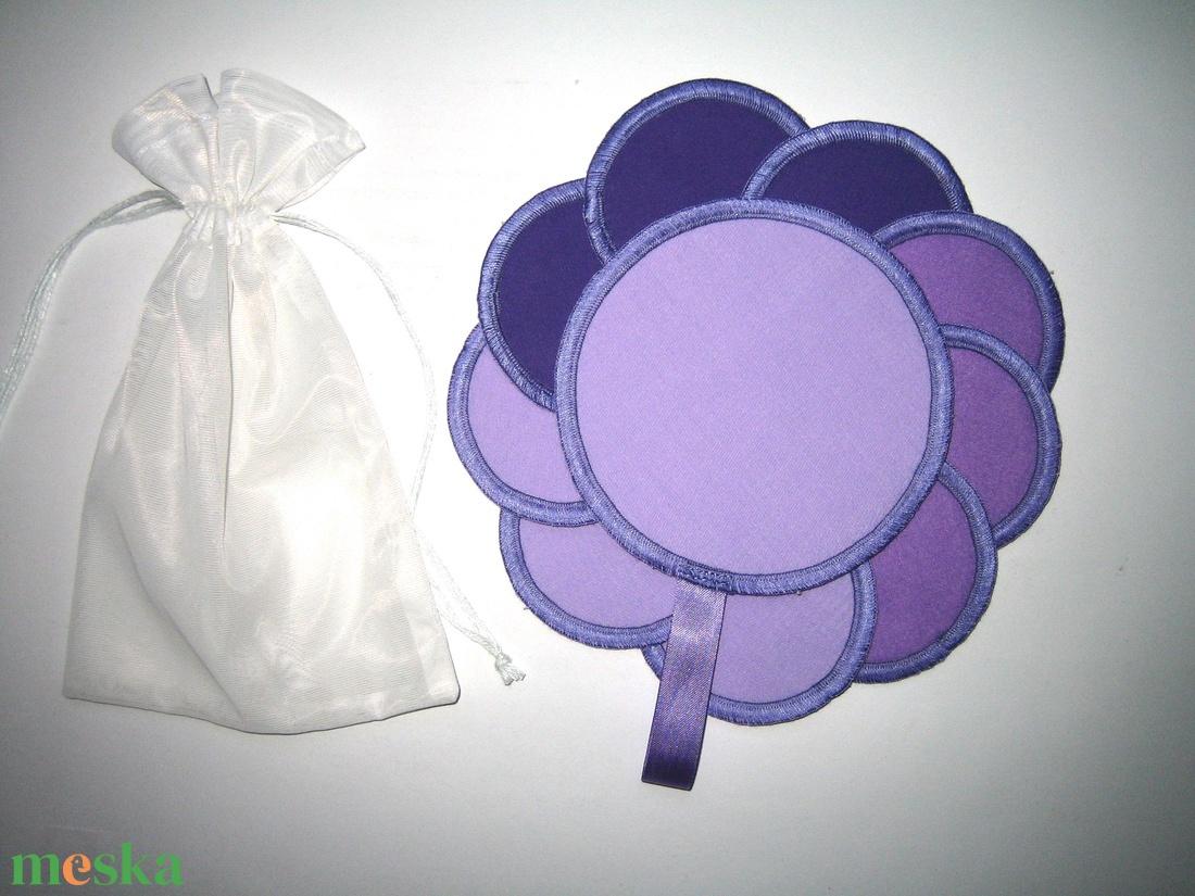 10 db Arctisztító korong mosható-nowaste Lila 3 árnyalata - szépségápolás - arcápolás - arctisztító korong - Meska.hu