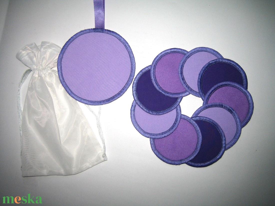 Sminklemosó korongok mosható-nowaste Lila 3 árnyalata - szépségápolás - arcápolás - arctisztító korong - Meska.hu