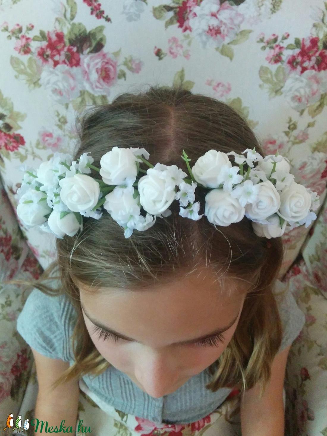 Hajpánt kislánynak - esküvő - hajdísz - hajpánt - Meska.hu