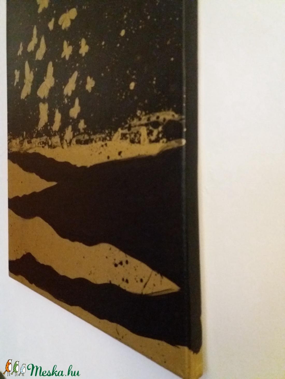 Absztrakt dekorációs olajfestmény, 40 cm x 50 cm - otthon & lakás - dekoráció - kép & falikép - Meska.hu