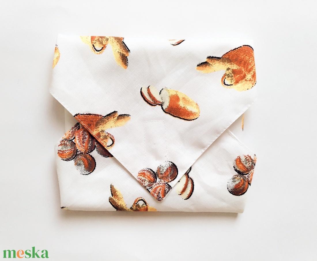 Újraszalvéta, szendvics csomagoló, textil szalvéta, pékárú és kenyér mintás - ovi- és sulikezdés - uzsonna- & ebéd tartó - szendvics csomagoló - Meska.hu